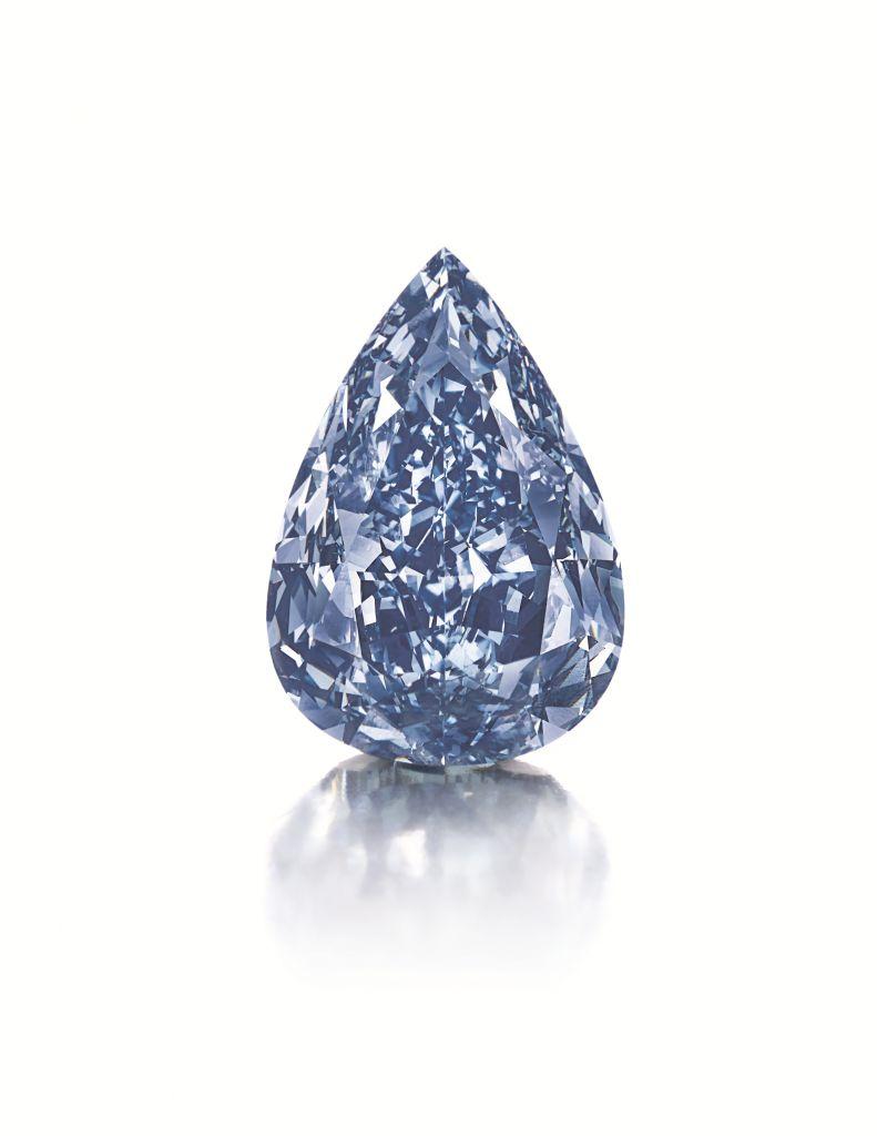 1 13,22 - karatowy niebieski diament wszlifie gruszki