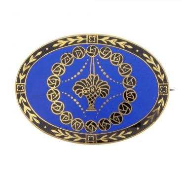 9549_1213-Broszka-z-niebiesko-chabrowa-emalia_0d8023e8eccaa1f82ad66dba972e110f_auctionPageMedium