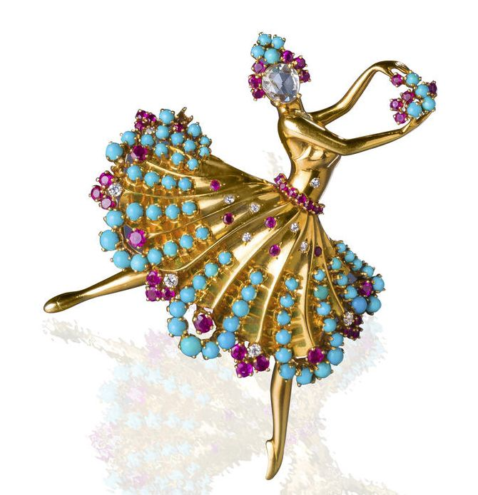 Lot-87-A-diamond-ruby-and-turquoise-Clip-Danseuse-brooch-Van-Cleef-Arpels1