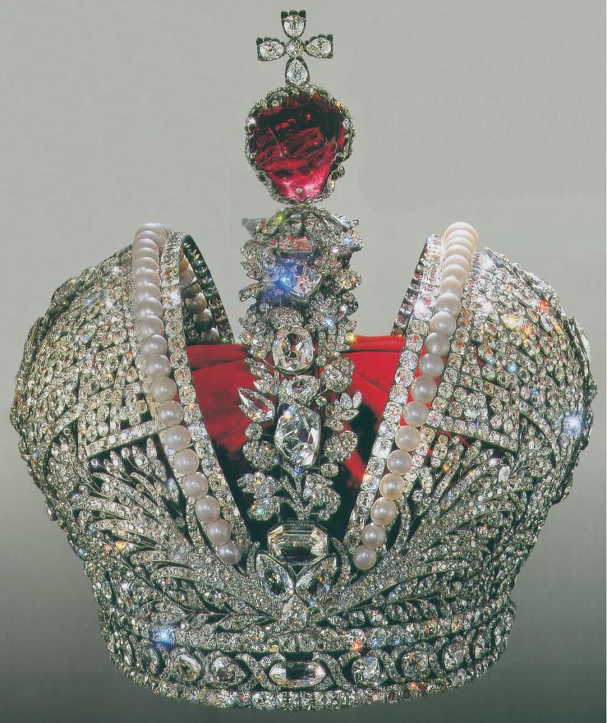 Cesarska korona Rosji zprawie 400 karatowym spinelem, dinastias.forogratis.es