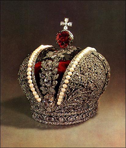 Cesarska korona Rosji zprawie 400 karatowym spinelem, famousdiamonds.tripod.com