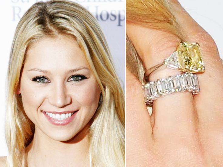 Anna-Kournikova-Yellow-Diamond-Ring