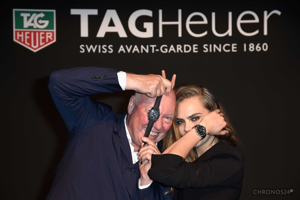 Cara Delevingne zprezesem Tag Heuer