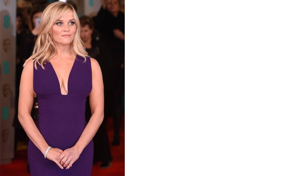Reese Witherspoon wnowoczesnej diamentowej bransolecie Tiffany Metro bangles.