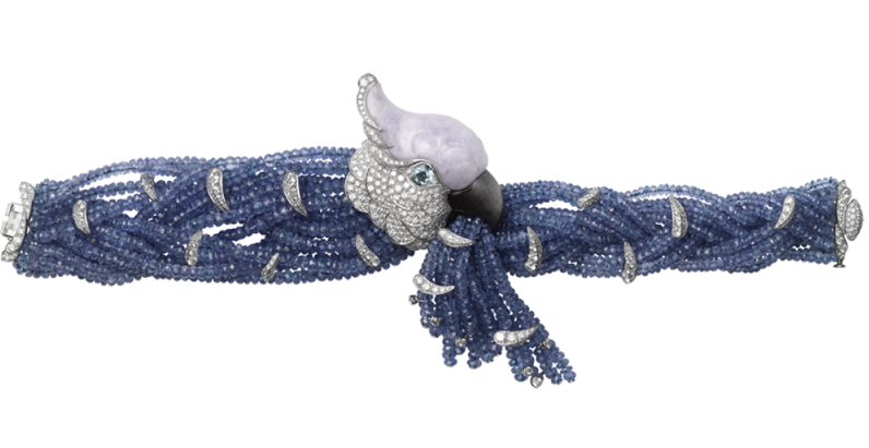 cartier flora and fauna parrot bracelet