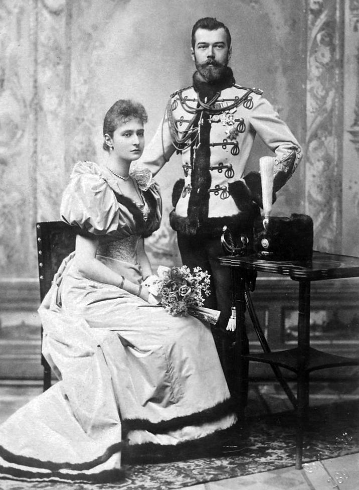 2 Car Mikołaj II znarzeczoną Alexandrą Feodorovną