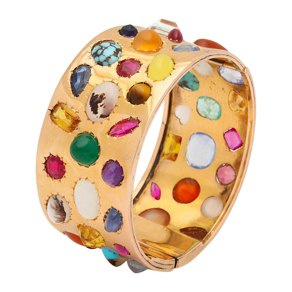 Multi-Gem-Gold-Bangle-A-La-Vieille-Russie