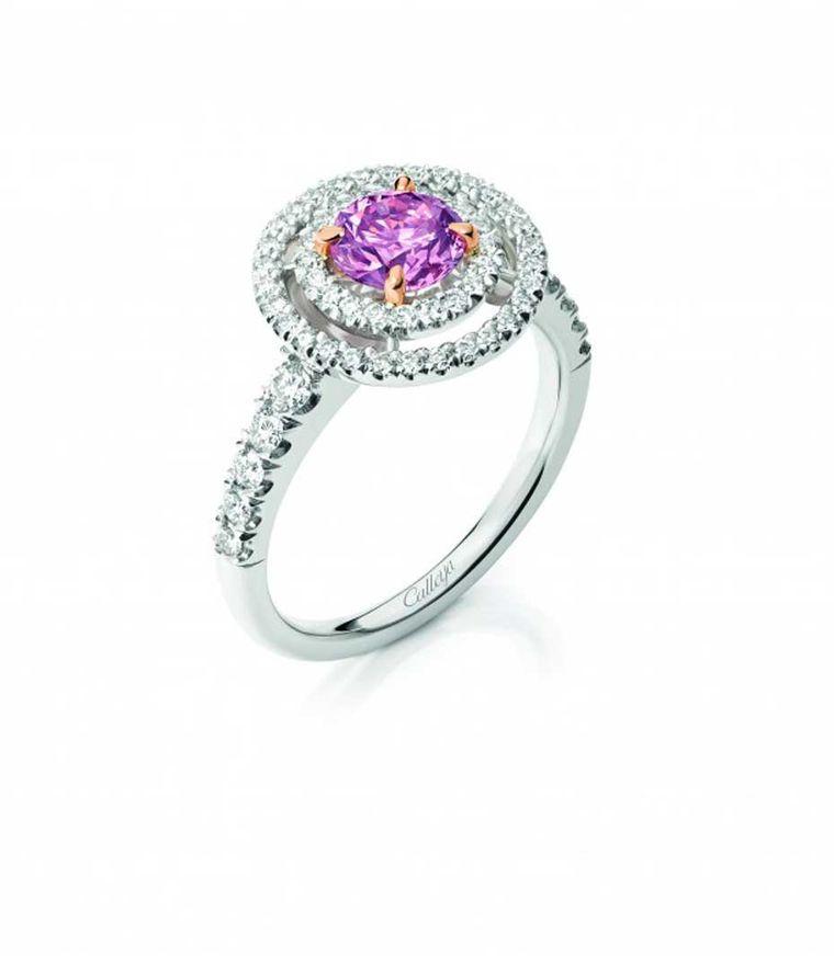 0,86-karatowy różowy diament Calleija Aurora zkopalni Argyle